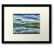 A Day at the Lake Framed Print