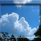 Clouds in Beginning Day Duvet by GolemAura