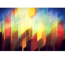 Minimalist Colorful Urban design Photographic Print