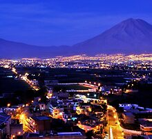 Misti at Night ( View from Sachaca ) by Alessandro Pinto