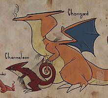 Charizard and cie by UmbreoNoctie