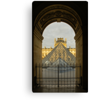 Waiting for the Louvre to Open Canvas Print