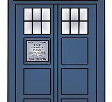 Doctor Who; TARDIS by jonnarogers