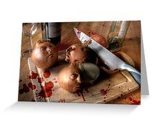 Butchery of the Onion Folk Greeting Card