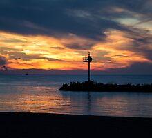 Sunset at Lake Erie by Lynn Gedeon