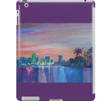 Miami Skyline Silhouette at Sunset, Florida, USA  iPad Case/Skin