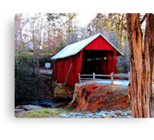 *Campbell's Covered Bridge* Canvas Print