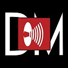 Depeche Mode - Music For The Masses Logo 4 White DM by Luc Lambert