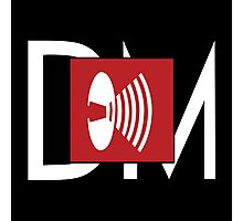 Depeche Mode - Music For The Masses Logo 4 White DM Photographic Print