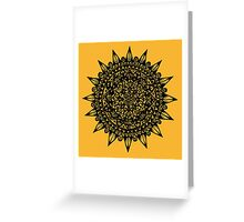 Black Star Mandala Design Greeting Card