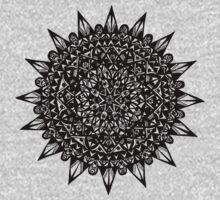 Black Star Mandala Design Kids Clothes