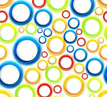 Organic pattern with bubbles by Patternalized