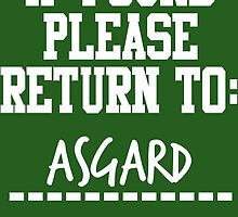 If Found, Please Return to Asgard by rexannakay
