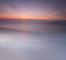 Peaceful sunset scenery with smooth calm water at lake Huron art photo print by ArtNudePhotos