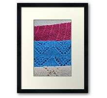 knitted as background Framed Print