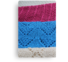 knitted as background Canvas Print