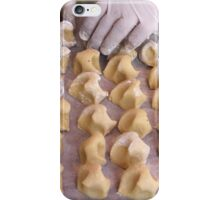 preparation of biscuits iPhone Case/Skin