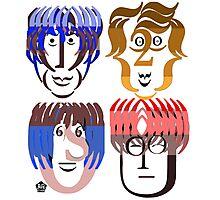 Typortraiture The Beatles Photographic Print