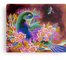 Paradise Bird in Blossoms Metal Print