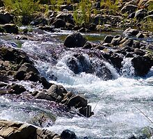 Flowing River Over Rocks by colbygray15