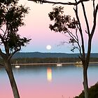 Framing the Super Moon! Tin Can Bay, Queensland. by Rita Blom