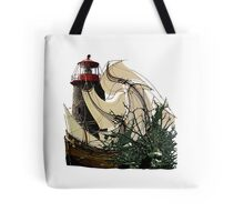 A Floundering Pirate Ship Tote Bag