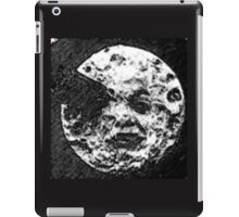 From the Earth to the moon moon with rocket in the eye water colour painting version 2 iPad Case/Skin