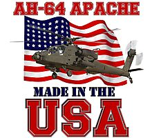 AH-64 Apache Made in the USA Photographic Print