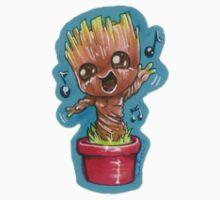 Baby Groovin Groot - STICKER by blizzieart
