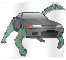 R32 Godzilla Transformer-looking-thing Poster