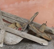 old wooden wheelbarrow by spetenfia
