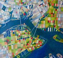 Imaginary map of New York by federico cortese