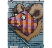 Ram mural graffity on the textured wall iPad Case/Skin