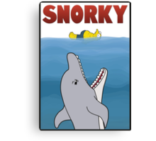 Snorky (Jaws) Canvas Print