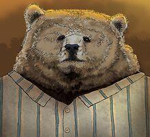 Bear - ready for hibernation by Carl Conway