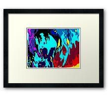 Bathymetric fantasy Framed Print