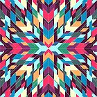 Triangles 4 abstract tribal pattern by mikath