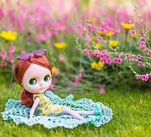 Sunbathing in the garden by Zoe Power