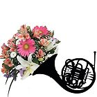 Floral French Horn by Charlotte Anderson