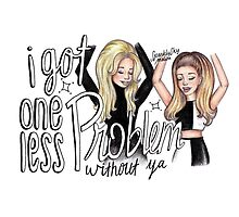 ariana ft iggy - problem cartoon by sparklysky
