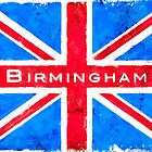 Birmingham Union Jack Vintage Flag by Mark Tisdale