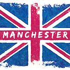 Manchester Vintage Union Jack British Flag by Mark Tisdale