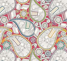 book paisley (card) by Sharon Turner