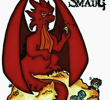 Cartoon Smaug (With Logo) by AlexBowman314