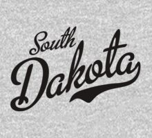 South Dakota Script Black by USAswagg2