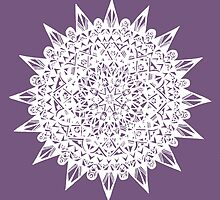 White Star Mandala Design by Hazel Partridge