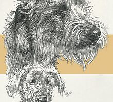 Irish Wolfhound Father & Son by BarbBarcikKeith