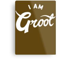 I am Groot Metal Print