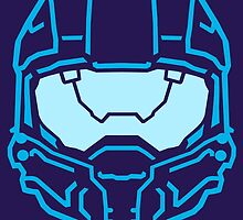 Master Chief Collection Helmet Blue by gamergeekshirts