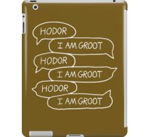 Hodor - I Am Groot iPad Case/Skin